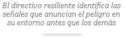 El directivo resiliente